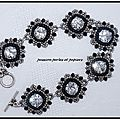 bracelet masca noir crystal