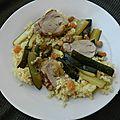 Filet mignon de porc aux courgettes & aux raisins secs
