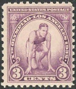 Timbre 3 cents 1932