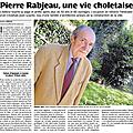 Pierre rabjeau, mémoire choletaise et vendéenne