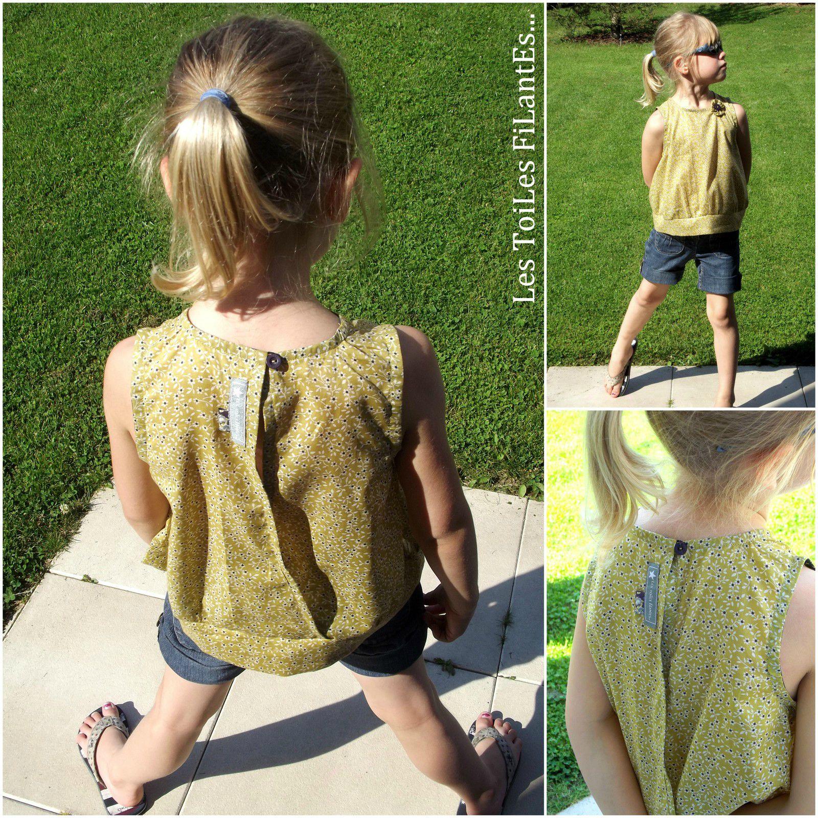 1-Shorts en jean et blouses assorties