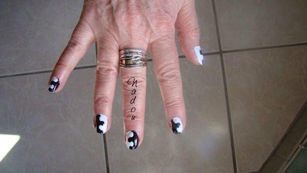 1er essai de nail art