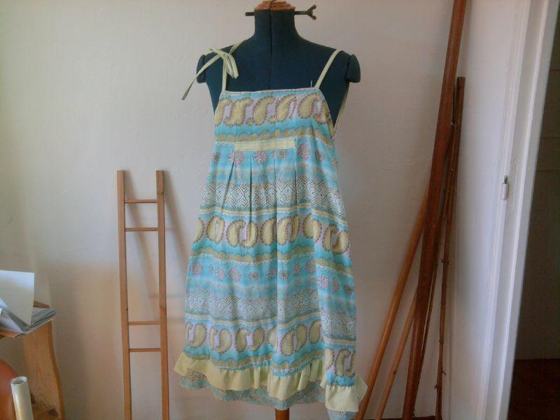 robe-tab bleu