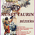 BÉZIERS - MUSÉE TAURIN