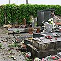 Chelles : il perd le contrôle de sa voiture et détruit onze tombes du cimetière