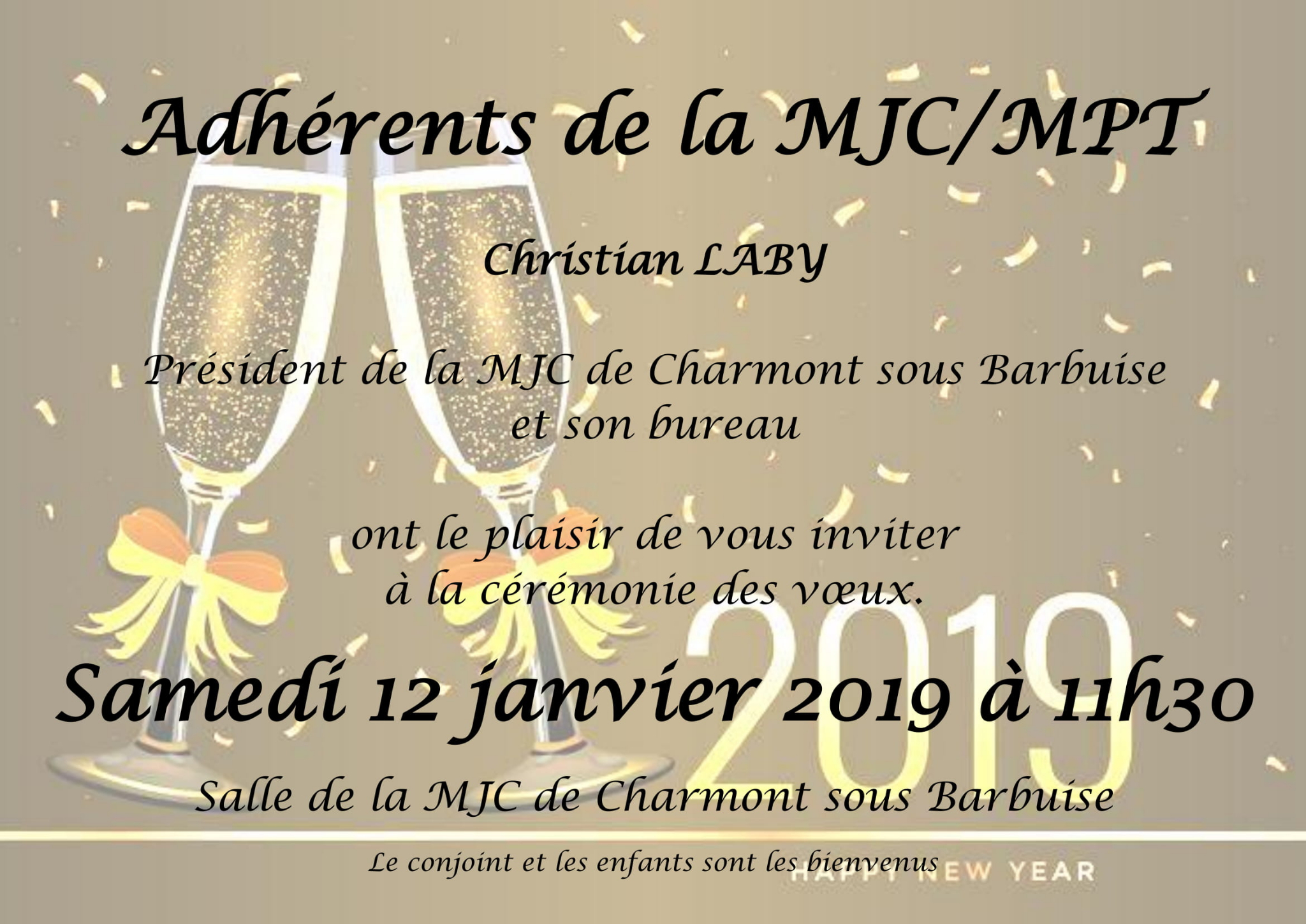 Invitation au Vœux 2019