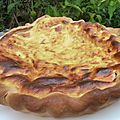 Quiche au saumon, babybel et moutarde