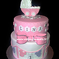 Gâteau personnalisé 2 étages