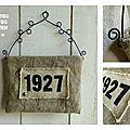 Vide-poches muraux lin chanvre jute fil de fer N°30