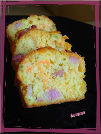 mini cake aux carottes et lardons