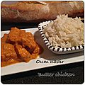 Butter chicken (poulet au beurre)