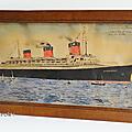 Collection ... tableau paquebot normandie * année 1937