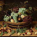 Jacob van hulsdonck (1582 antwerpen – 1647), still life with fruit basket, circa 1620