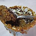 Mug cake banane choco coco
