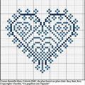 Coeur dentelle harmonie bleue