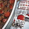 Lentilles blondes, saucisses fumées et confit d'oignons caramélisés au sirop d'érable: une cabane à sucre au gouezou!