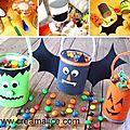 ✄ diy pots à bonbons récup pour halloween ✄