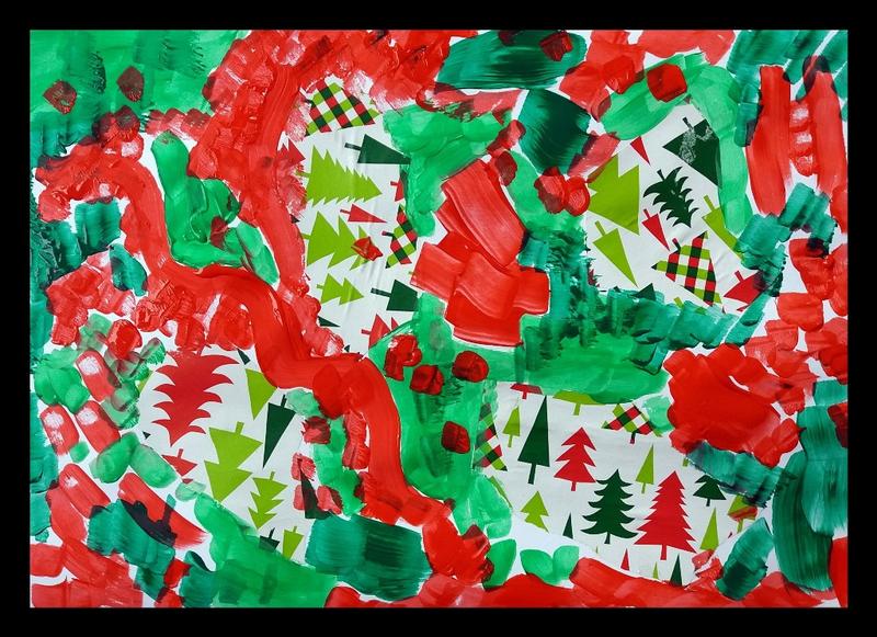 346-Compositions abstraites-Recyclage papiers cadeaux (20)