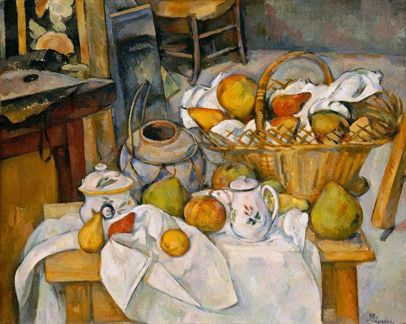 Cézanne, la table de cuisine, 188-90