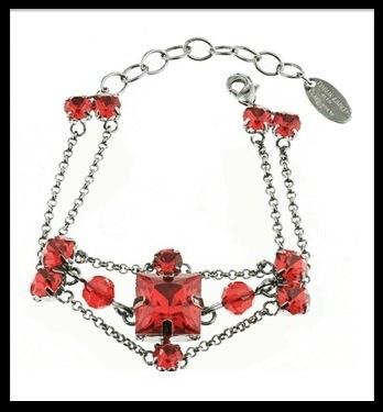 moulin rouge bracelet cristaux rouge
