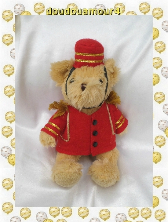Peluche Doudou Ours Crispin Le Groom The Teddy Bear Collection