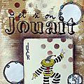 #86 - carte à jouer, lettres & gribouillis