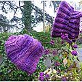 11 bonnet et tour de cou violet2