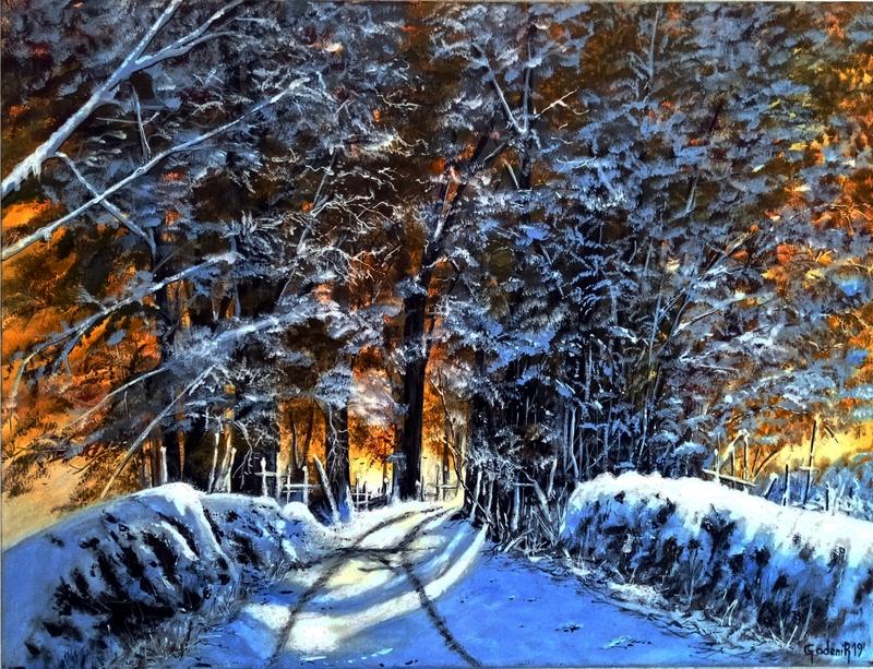 Le chemin sous la neige