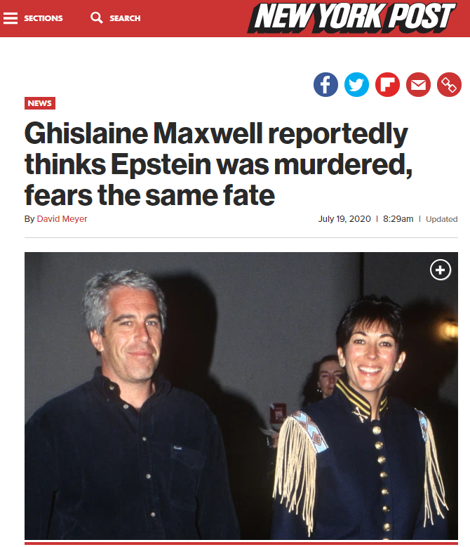 2020-08-07 13_11_51-Ghislaine Maxwell thinks Epstein was murdered, fears same fate_ report - Opera