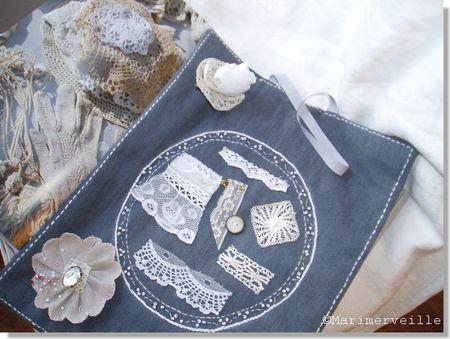 Cadre textile de collection pour les échantillons de dentelle