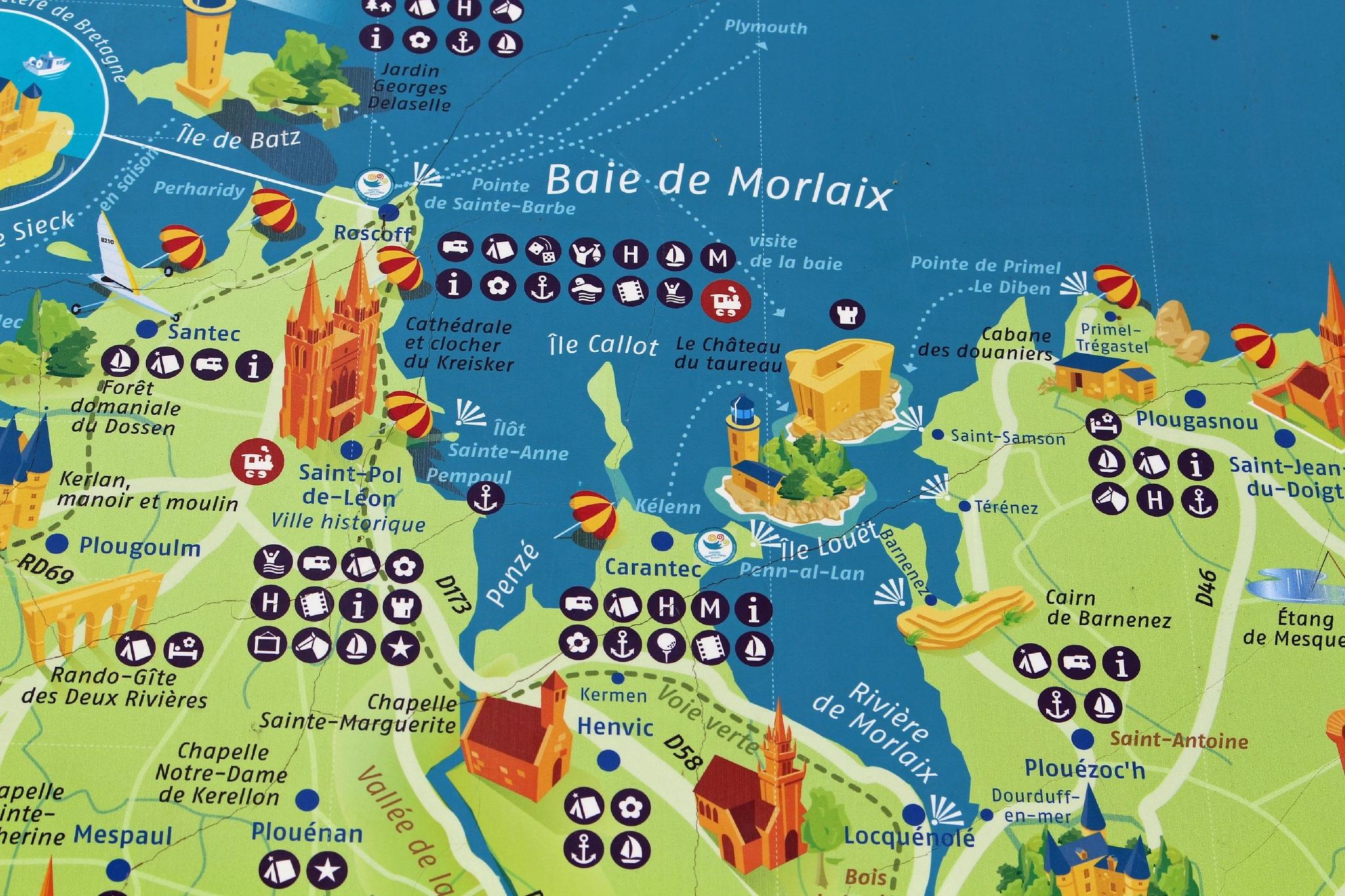 baie de morlaix carte 001   carte de la baie de Morlaix   Photo de 010   Roscoff