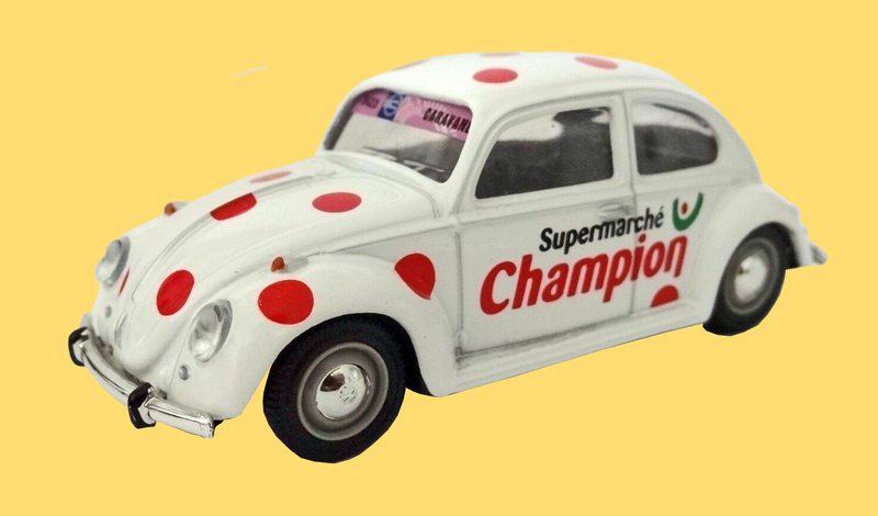 Miniature Tour de France 2001 VW Coccinelle Champion