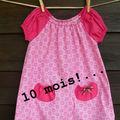 Robe rose d'inspiration japonaise pour nos 10 mois d'attente