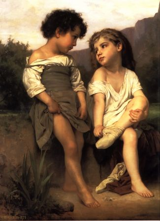 William_Adolphe_Bouguereau__1825_1905____At_the_Edge_of_the_Brook__1879_