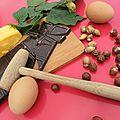 Petit coeur de beurre et brownie chocolat noisettes