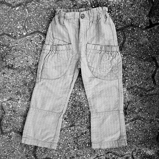 Pantalon coton et lin, 2 ans