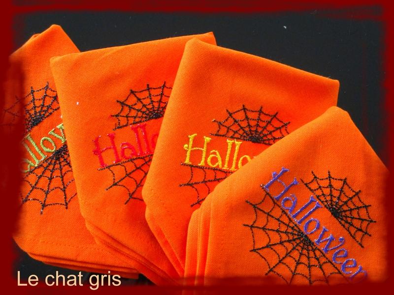 serviettes halloween