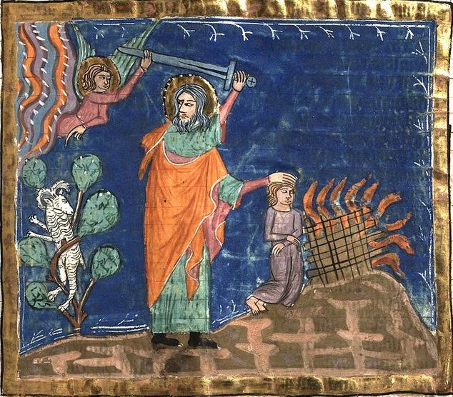 Le sacrifice d'Isaac, Weltchronik Fulda