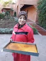 Farah présente le cake