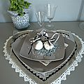 set de table forme coeur
