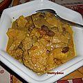 Curry de veau à l'ananas et aux raisins