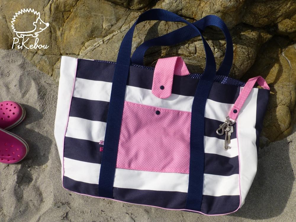 le sable le soleil et mon nouveau sac de plage pikebou. Black Bedroom Furniture Sets. Home Design Ideas