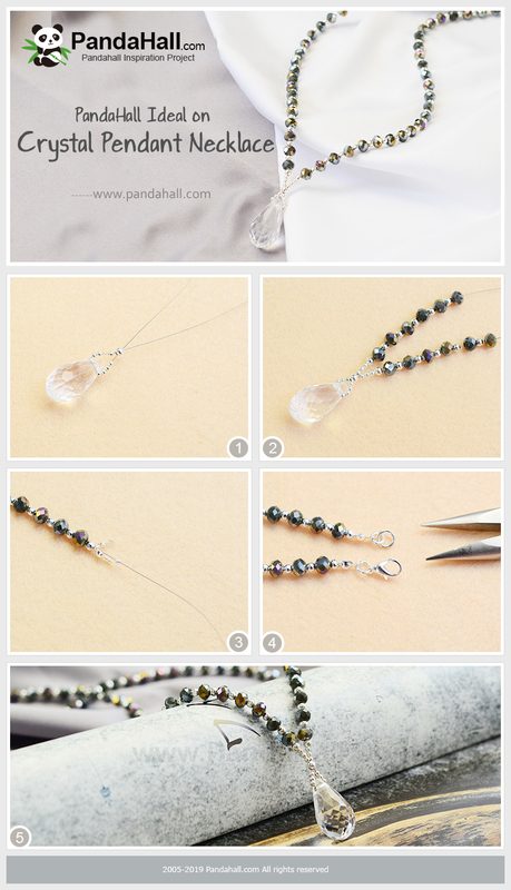 5PandaHall Ideal on Crystal Pendant Necklace