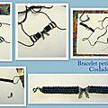 Petit bracelet à noeud et bracelets breloques