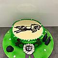 gâteau équitation
