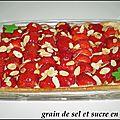 Tarte aux fraises (crème patissière/mascarpone)