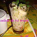 Salade de riz créole