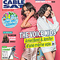 Amel bent et jenifer en couverture du tele câble sat 17 au 23 août (+capture interview)