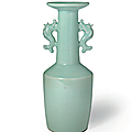 A very rare Longquan celadon kinuta vase, Southern Song dynasty (1127-1279)