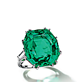 A fine emerald and diamond ring
